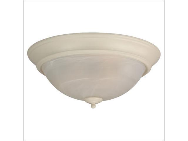 Craftmade X215-W Arch Pan 15 Inch Alabaster Flush Mount Light Fixture - White