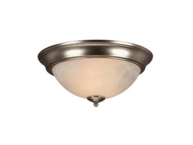 Craftmade X213-BN Arch Pan 13 Inch Alabaster Flush Mount Light Fixture - Brushed Nickel