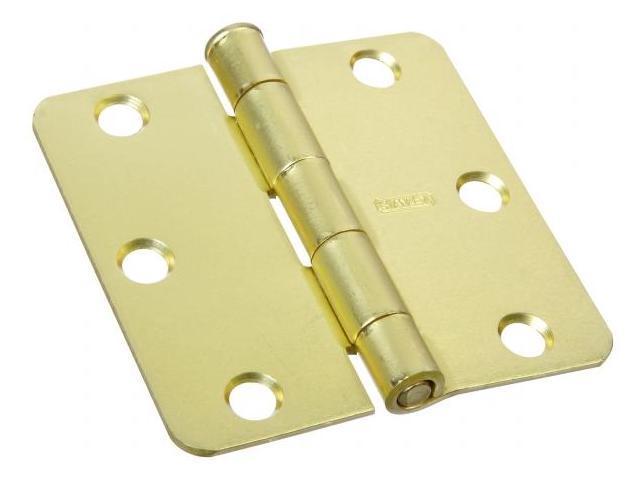 Stanley Hardware 3in. X 3in. Satin Brass Full Mortise Radius Corner Hinge  081400