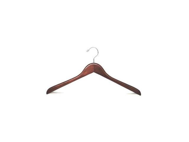 Proman GNV8813 Flat Coat Hanger Walnut-Chrome