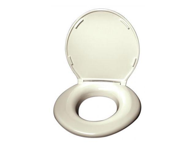 Big John Products 2445646-2CR Toilet Seat with Cover - Cream