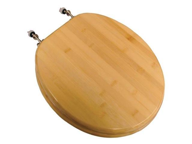 Jones Stephens Plumbing Round Natural Blond Bamboo Toilet Seat  C3B2R2-14BN