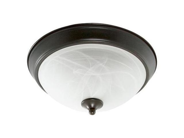Efficient Lighting EL-810-218-BZ Traditional Family Flushmount  Oil Rubbed Bronze Finish with Alabaster Glass  Energy Star Qualified