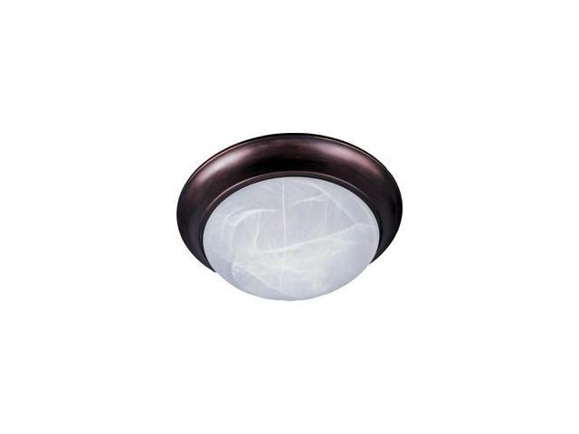 Maxim Lighting 5850MROI 4.25'' H 1-Light Flush Mount with Marble Glass - Oil Rubbed Bronze