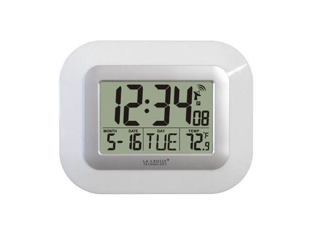 La Crosse Technology Wt 8005u W Atomic Digital Wall Clock