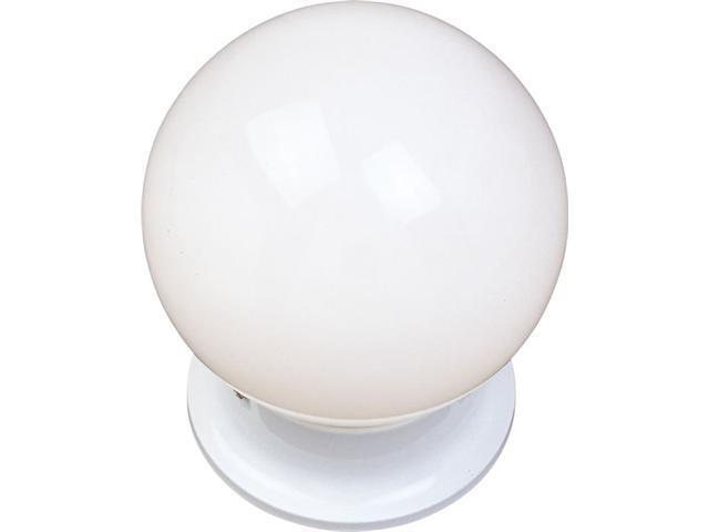 Maxim Lighting 5889WTWT 7'' H 1-Light Flush Mount with White Glass - White