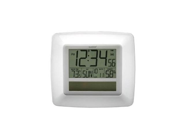 La Crosse Technology Wt 8112u Wh Solar Atomic Digital Wall