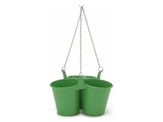 Houston International 9.5in. x 5in. Triple Hanging Planter  8116E