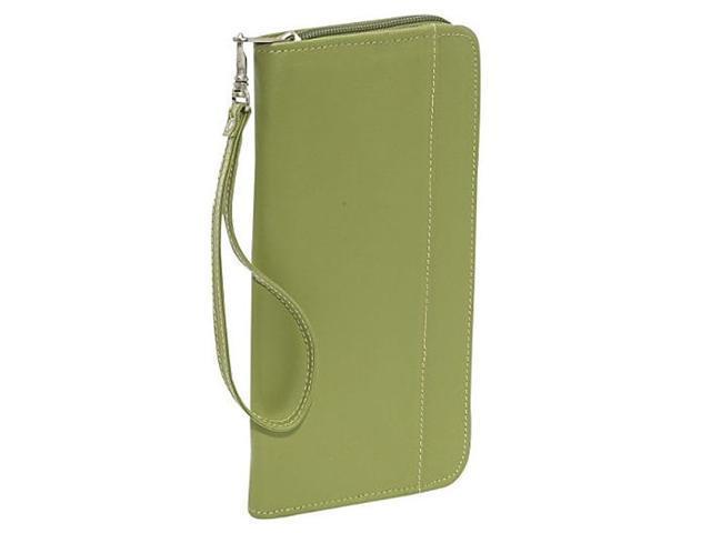 Piel Leather 9102-APL Zippered Passport-Ticket Holder - Apple