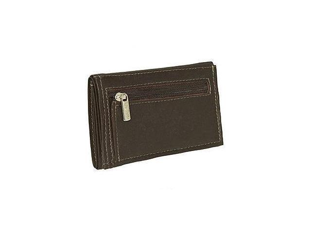 Piel Leather 2682-CHC Large Tri-Fold Wallet - Chocolate