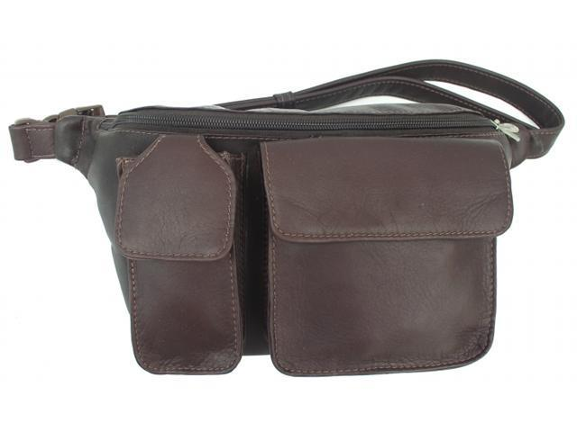 Piel 2120-CHC Chocolate Fanny Pack- Phone Pocket