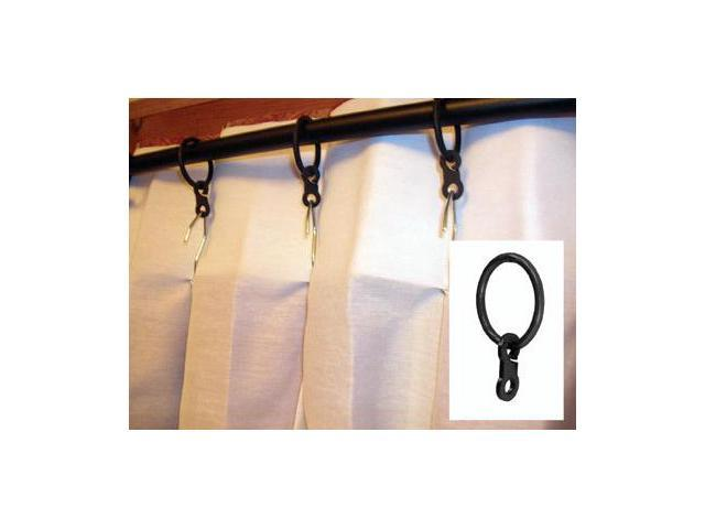 Village Wrought Iron CUR-RNG-B Pleated Curtain Rings