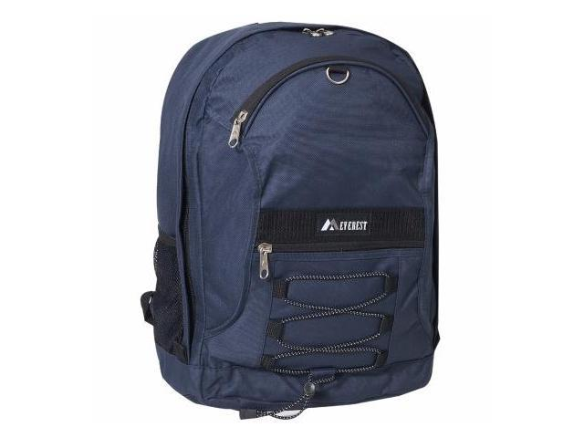Everest 3045SH-NY 17 in. Two-tone Backpack with Mesh Pockets