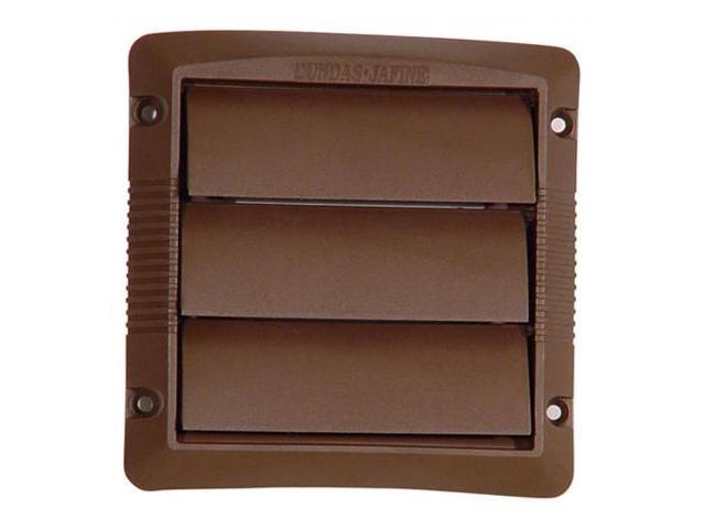 Dundas Jafine Inc. 4in. Brown Louvered Design Replacement Vent Cap  LC4BX