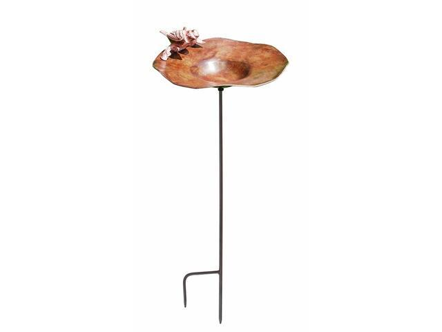 Achla BB-02AB-S Antiqued Birdbath with Birds with stand