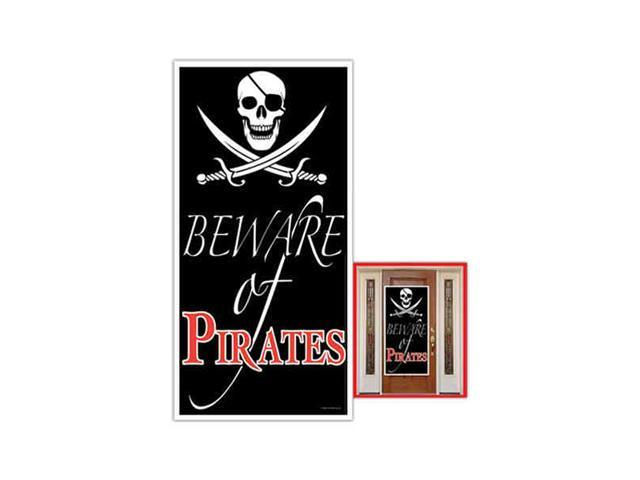 Beistle - 50008 - Beware Of Pirates Door Cover- Pack of 12