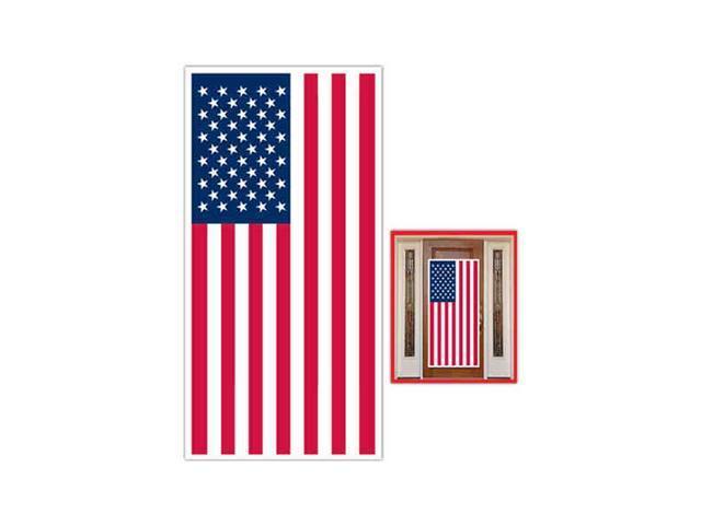 Beistle - 57084 - American Flag Door Cover- Pack of 12