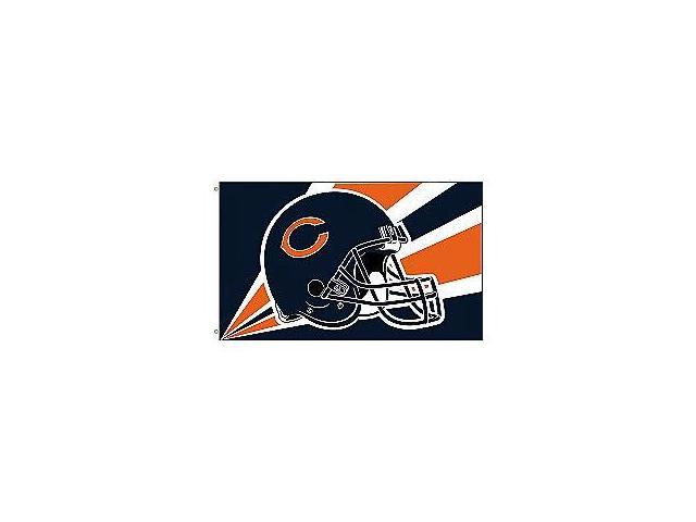Fremont Die- Inc. 94201B 3 Ft. X 5 Ft. Flag W/Grommetts - Chicago Bears