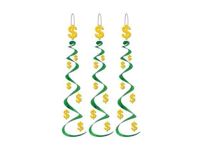 Beistle - 50064 - Money Sign Whirls - Pack of 6