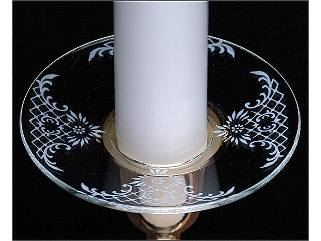 Biedermann & Sons M117 Glass Bobeche With White Lace