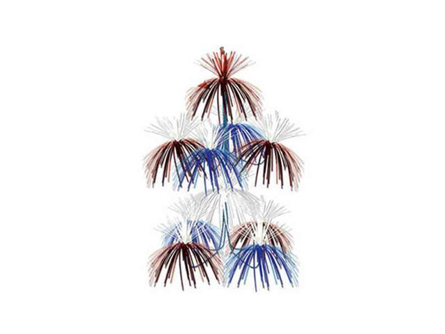 Beistle - 50309-RWB - Firework Chandelier- Pack of 12