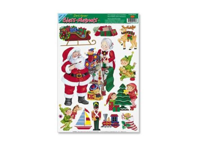 Beistle - 22127 - Santas Workshop Clings- Pack of 12