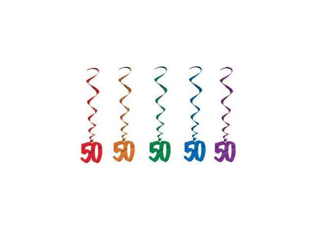 Beistle - 57551-50 - 50 Whirls - Pack of 6