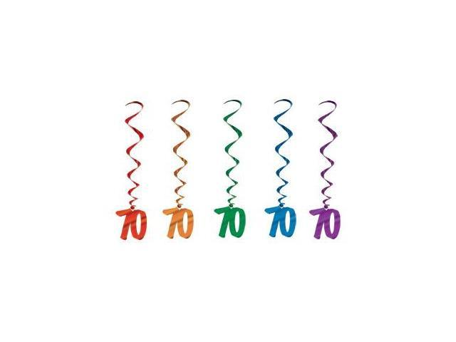 Beistle - 57551-70 - 70 Whirls - Pack of 6