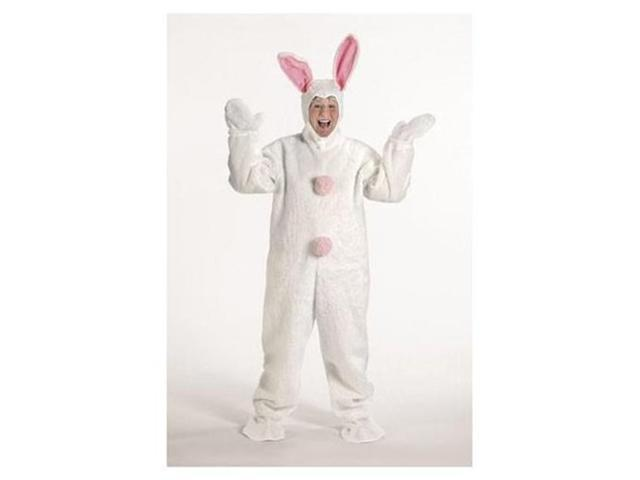 HALCO 1092 Medium White Bunny Suit with Hood - Size Adult