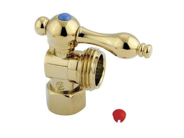 Kingston Brass CC13002 Kingston Brass CC13002 .5 in. IPS, .75 in. Hose thread Angle Shut-off Valve, Polished Brass