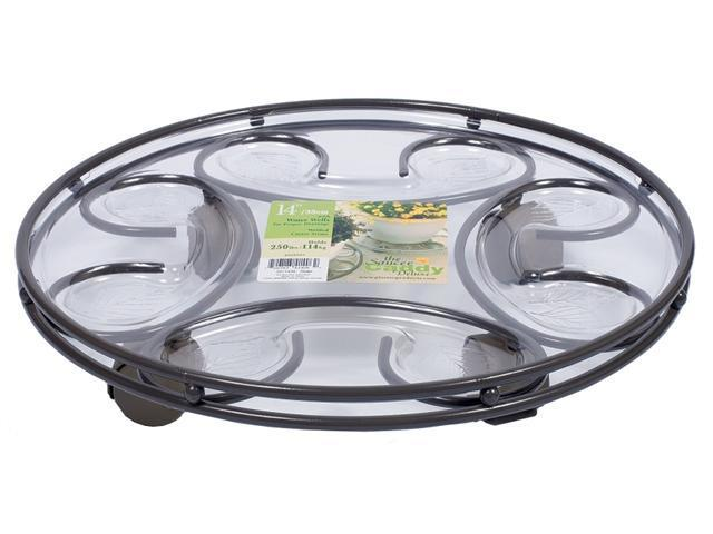 Plastec Products 14in. Slate Deluxe Saucer Caddy  SC14SL - Pack of 6