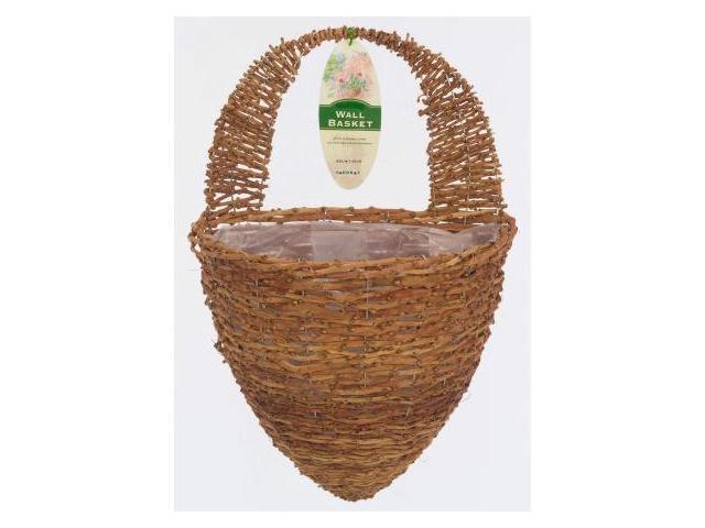 Gardman usa half hive rustic rattan wall basket r299 - Wicker beehive basket ...
