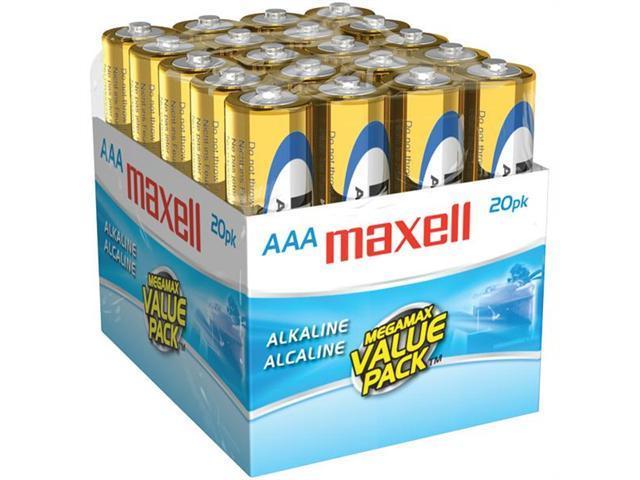 MAXELL 723849 - LR0320MP ALAKALINE BATTERIES - AAA; 20 PK; BRICK