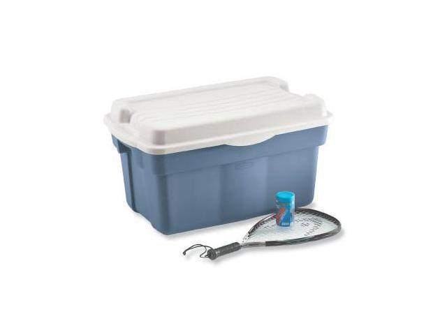 Rubbermaid Roughtote Hinged Storage Box  FG246100DIM - Pack of 6