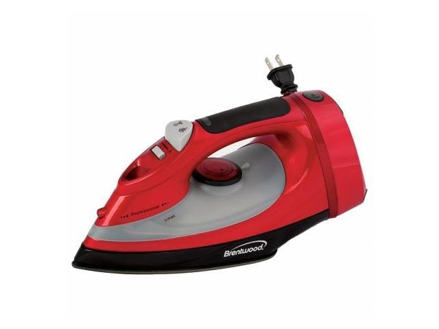 Brentwood MPI-58 Full Size Steam Spray Dry Iron with Cord Storage - Red