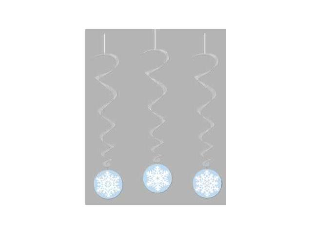 Beistle - 20051 - Snowflake Whirls - Pack of 6