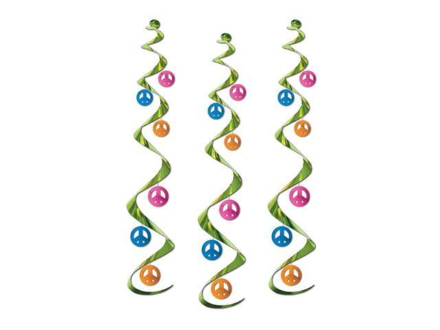 Beistle 57619 Peace Sign Whirls - Pack of 6