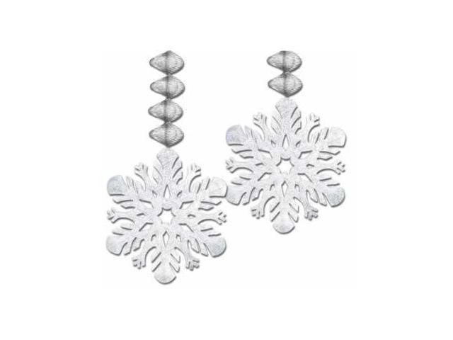 Beistle - 20781 - Foil Snowflake Danglers- Pack of 12