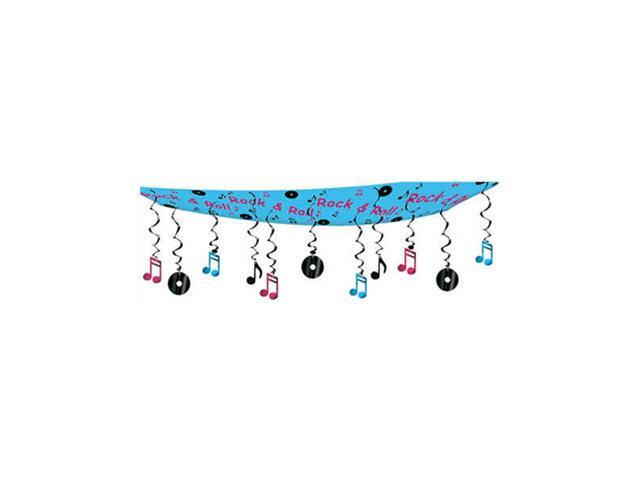 Beistle - 50263 - Rock And Roll Ceiling Decor - Pack of 6