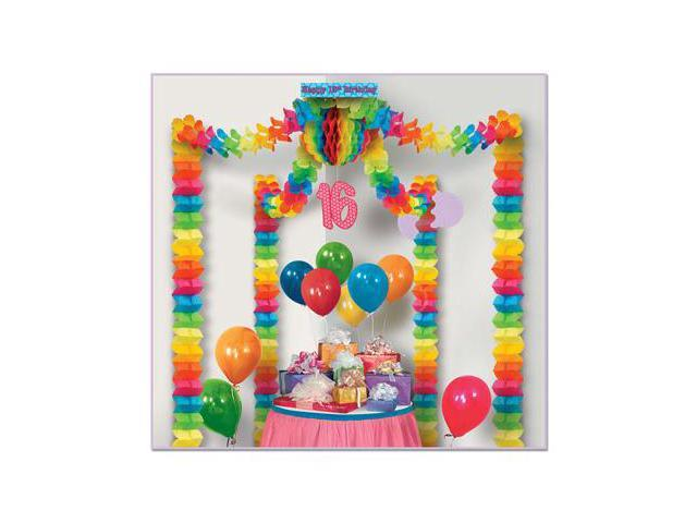 Beistle 54431 16th Birthday Party Canopy Pack of 6