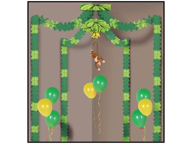 Beistle 54432 Jungle Monkey Party Canopy Pack of 6