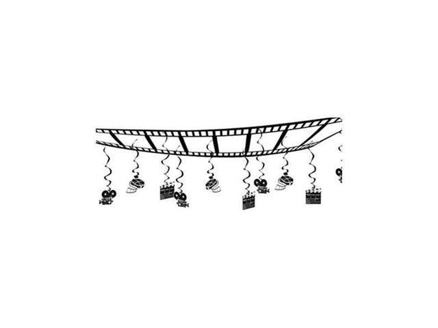 Beistle - 50304 - Movie Set Ceiling Decor - Pack of 6