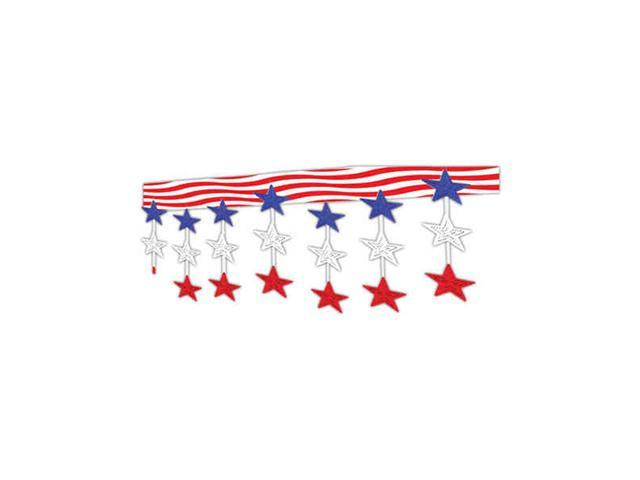 Beistle - 50331 - Stars And Stripes Ceiling Decor - Pack of 6