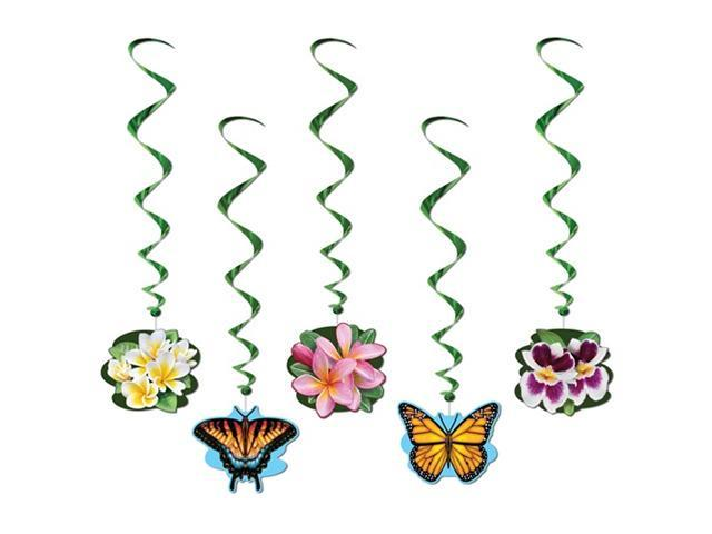 Beistle 57605 Flower Garden Whirls Pack of 6