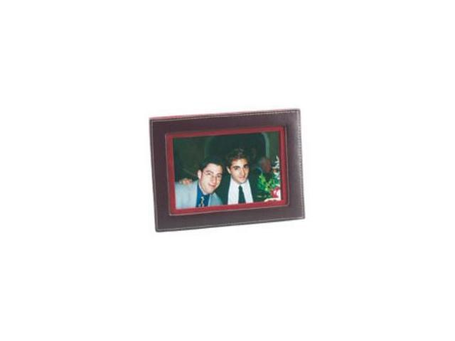 Budd Leather 542046-4 Leather Photo Frame - Burgundy