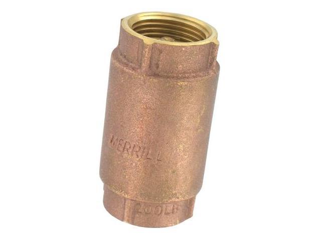 Pentair 1in. Low Lead Well Pump Brass Check Valve  TC2502LF