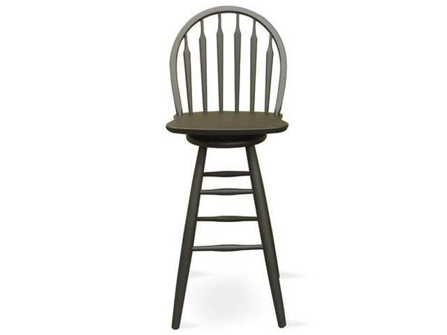 International Concepts S46 - 613 BLACK Windsor - Arrowback -Bar Stool 30 Inch - SWIVEL