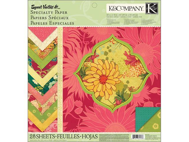 K&Company K657236 Sweet Nectar Mod Specialty Paper Pad 12 in. X12 in. -28 Sheets