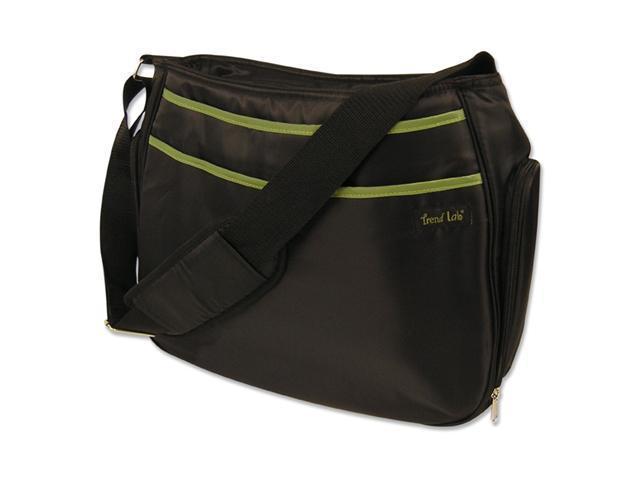 Trend-Lab 104596 DIAPER BAG - HOBO BLACK/AVOCADO