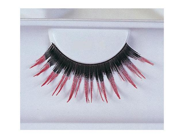 Costumes For All Occasions EA92 Eyelashes Black With Pink